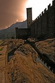 In The Rock Of Bellinzona Switzerlan