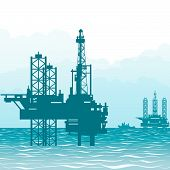 Oil rigs at sea-1