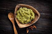 foto of pesto sauce  - Italian cooking - JPG