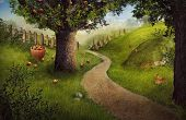 foto of apple orchard  - Nature design  - JPG