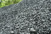 image of combustion  - Combustion coal pile in an industrial area - JPG
