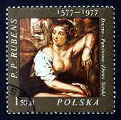Postage Stamp Poland 1977 Bathsheba, Painting By Rubens