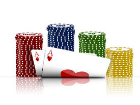 stock photo of poker machine  - Illustration with the subject of the poker game - JPG