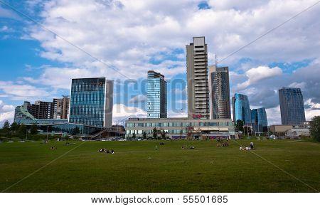 moderne Finanzviertel in Vilnius, Litauen