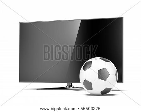 TV with a soccerball