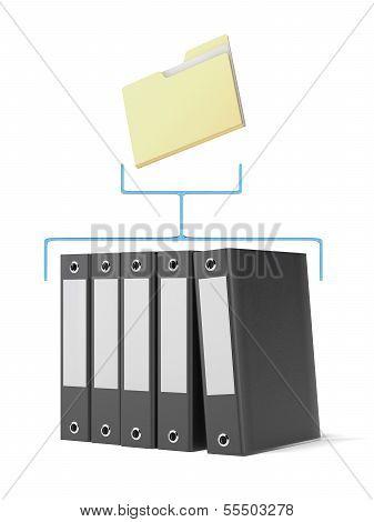 Folder and binders
