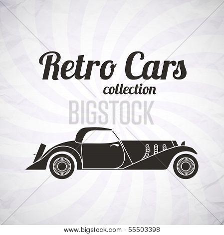 Retro cabriolet sport car, vintage collection