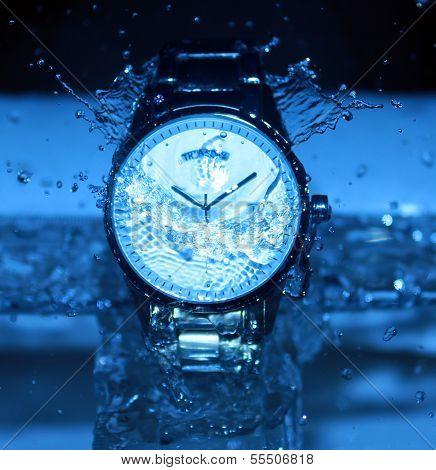 Watch Under Water Drops