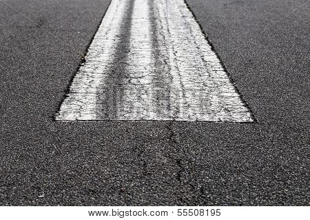 Road Marking On An Airstrip At Airport