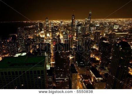Bird's Eye Chicago Night