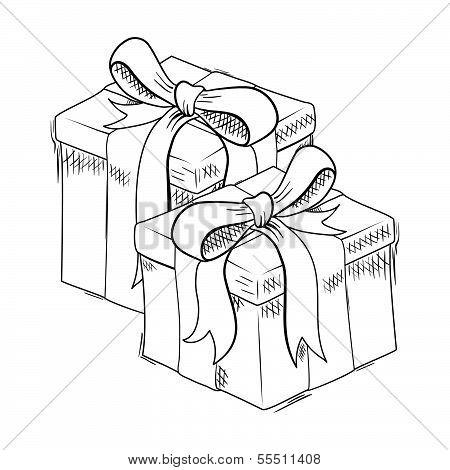 Christmas gift sketch