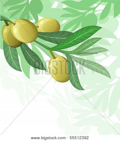 olive tree hanuka israel holiday background