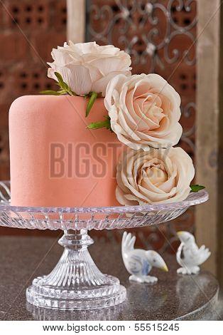 Celebration cake with roses