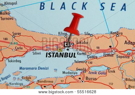 Istanbul On A Map