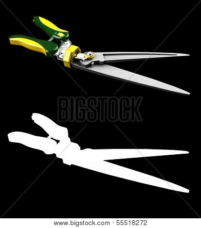 Garden Hedge Trimmers scissors for plant with mask channel