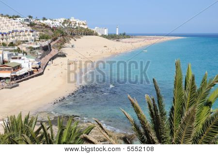 Beach Of Morro Jable, Canary Island Fuerteventura