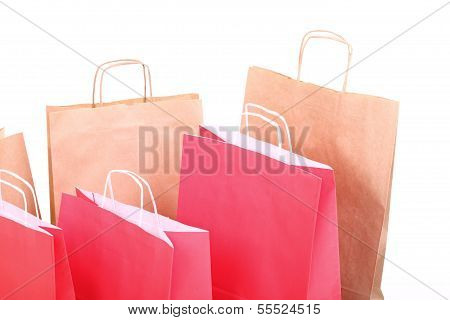 Shopping Red Gift Bags