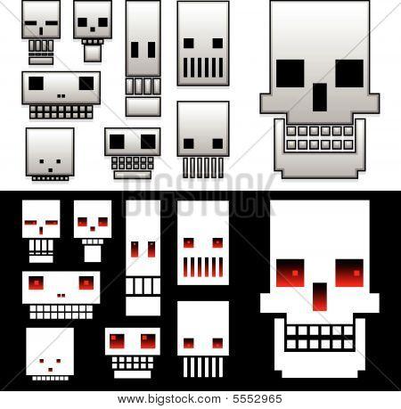 Stylized Skull Icons