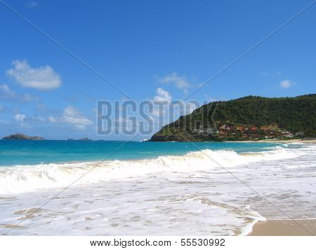 Flamands beach at St. Barts, French West Indies