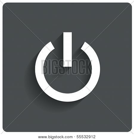 Abstract power button icon. Switch off symbol.