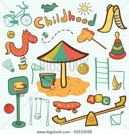 Cartoon children playground icon