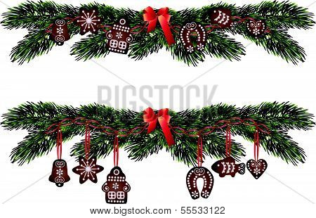 Christmas decorative gingerbread