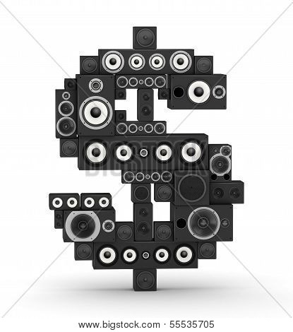Dollar sign from speaker