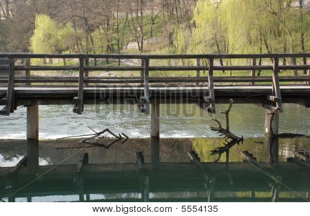 Mill Bridge At Postojna