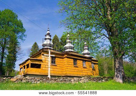 An Old Orthodox Church In Rzepedz, Beskid Niski Mountains, South Eastern Poland.