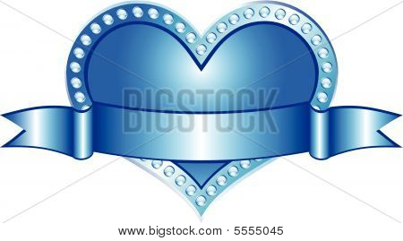 Heart Blue (vector)
