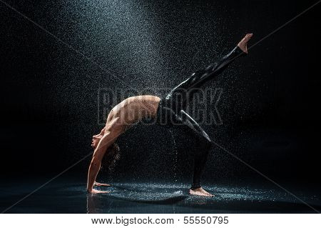 Male Dancer Under Rain