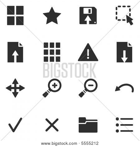 Viewer black web icons