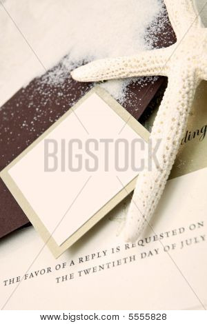 Wedding Invitation With A Beach Theme