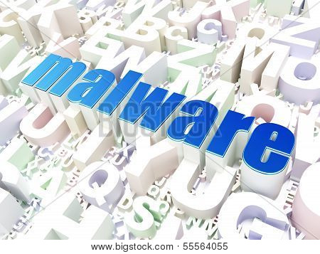 Protection concept: Malware on alphabet background