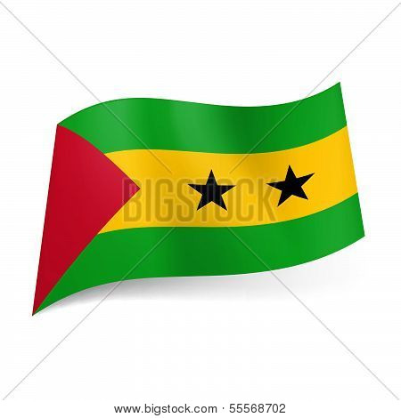 State flag of Sao Tome and Principe.