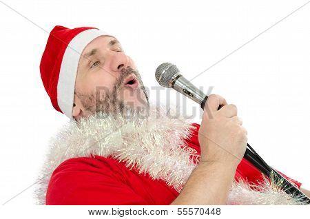 Happy Santa Sings Jingle Bells