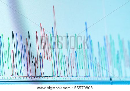 dna chromatogram monitor computing system in the genetic laboratory