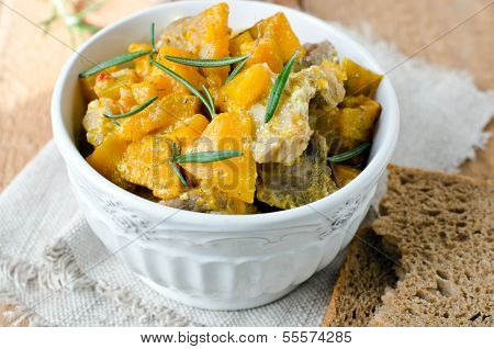 Meat Stew With Pumpkin