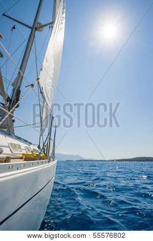 Sailing in Lefkas island Greece