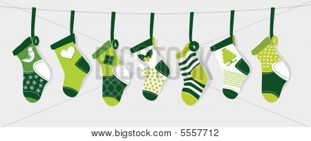 Christmas Stocking - Green