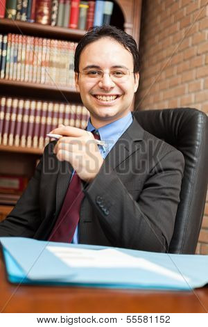 Portrait of a businessman at work