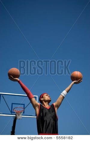 Confident Basketball Player