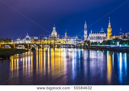Dresden, Germany over the Elbe