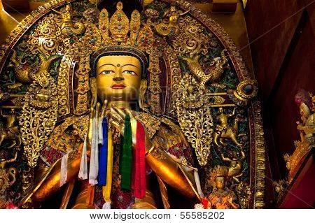Boudhanath Temple Buddha In The Kathmandu Valley