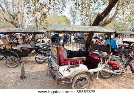 Taxis In Angkor, Cambodia