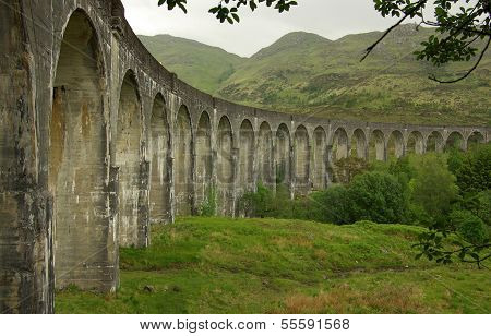 Glenfinnan Viaduct In Scotland