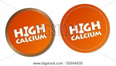 High calcium stickers