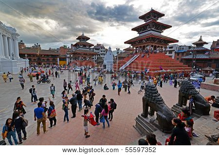 The Durbar Square In Kathmandu, Nepal