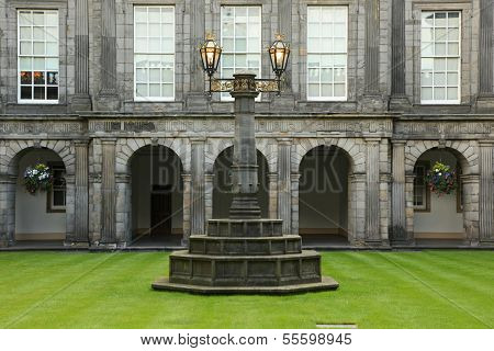 Edinburgh, Scotland - August 30: Holyrood Palace On August 30, 2013 In Edinburgh. Holyrood Palace, T