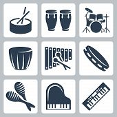 pic of congas  - Vector isolated musical istruments - JPG